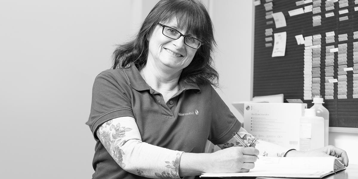 Mitarbeiterin Regina Adelwarth seniormobil ambulanter Pflegedienst Bad Grönenbach